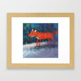 Fox friend Framed Art Print
