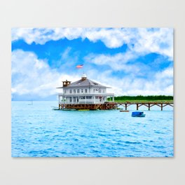 Mobile Yacht Club - Alabama's Historic Gulf Coast Canvas Print