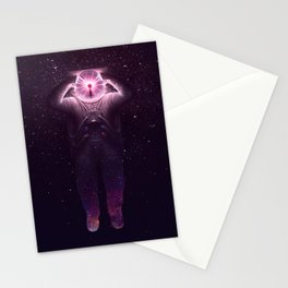 The mind blown Stationery Cards