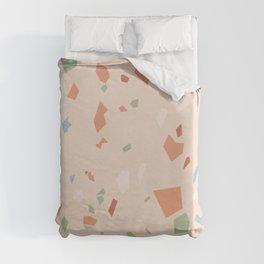 Peach Terrazzo Duvet Cover