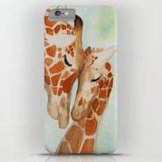 Watercolor Giraffes Slim Case iPhone 6s Plus