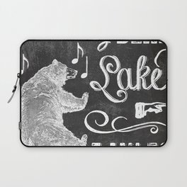 Dancing Bear Lake Sign Laptop Sleeve