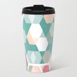 Pastel Hexagon Pattern Travel Mug