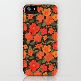Marmalade Bush. Streptosolen jamesonii Pattern iPhone Case