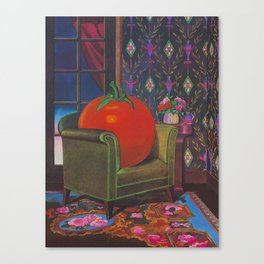 Therapy With A Tomato Milton Glaser - Tomato- Something unusual is going on here - 1978 Canvas Print