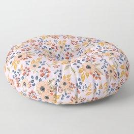 Blush Poppy Floral Pattern Floor Pillow