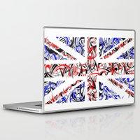 union jack Laptop & iPad Skins featuring Union Jack by David T Eagles