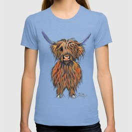 Scottish Highland Cow ' NED ' by Shirley MacArthur T-shirt