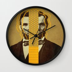 AbracadAbraham - Lincoln Wall Clock