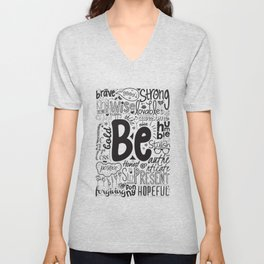 Lab No. 4 - Inspirational Positive Quotes Poster Unisex V-Neck