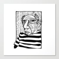 pablo picasso Canvas Prints featuring Pablo Picasso by Benson Koo
