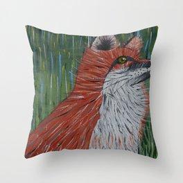 Sly Fox Throw Pillow