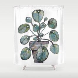 Pilea Shower Curtain