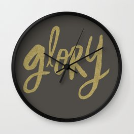 Glory Grey and Gold Wall Clock