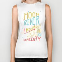 river song Biker Tanks featuring MOON RIVER by Matthew Taylor Wilson