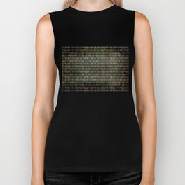 The Binary Code - Dark Grunge version Biker Tank