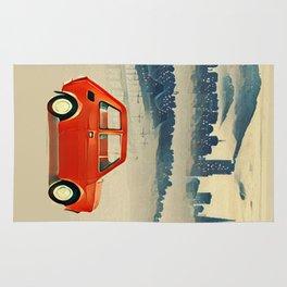 Red Polski Fiat  Rug