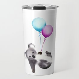 Koala With Baloons Travel Mug