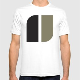 Geometric Pattern #41 (black gray) T-shirt