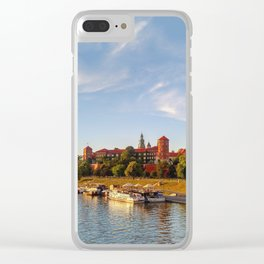 Magical Wawel Castle in Krakow - view from the bridge Clear iPhone Case