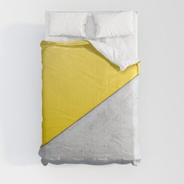 Yellow & Gray Abstract Background Comforters