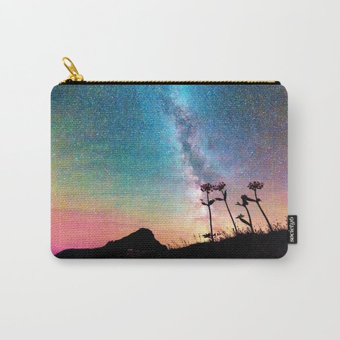 Milky Way Landscape Rainbow Pastel Carry-All Pouch