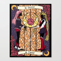 utena Canvas Prints featuring Utena | Moon by andrea cecelia