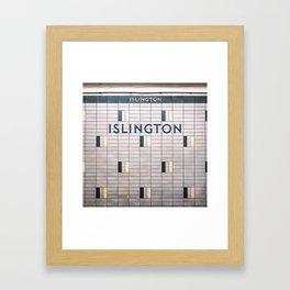 Islington Station Toronto Subway Sign Framed Art Print