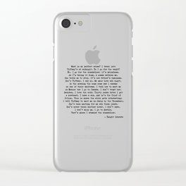 What is my Perfect Crime Office Dwight Quotes Clear iPhone Case