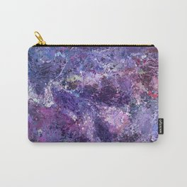Violet drip abstraction Carry-All Pouch