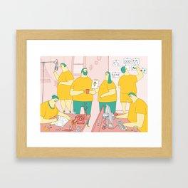 Superdoodle Framed Art Print