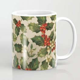 Gold and Red Holly Berrys Coffee Mug