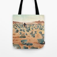battlefield Tote Bags featuring The Battlefield. by Jera Sky