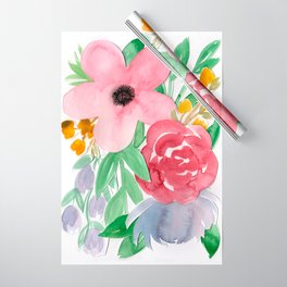 Floral Watercolor Bouquet no. 2 Wrapping Paper