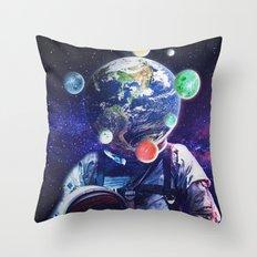 Orbital Complexion Throw Pillow