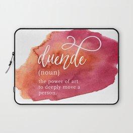 Duende Word Nerd Definition - Pink Watercolor Laptop Sleeve