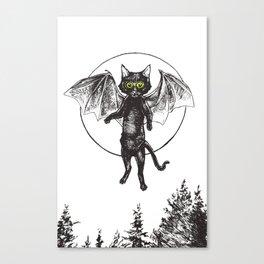 Batcat Rises Canvas Print