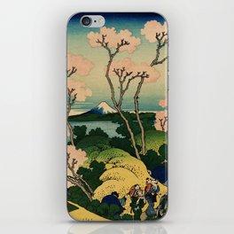 """Hokusai (1760–1849) """"Goten-yama-hill, Shinagawa on the Tōkaidō"""" iPhone Skin"""