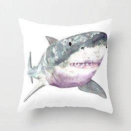 Great White Friend Throw Pillow