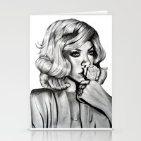 rihanna Stationery Cards featuring Rihanna by Ellie Wilson Designs