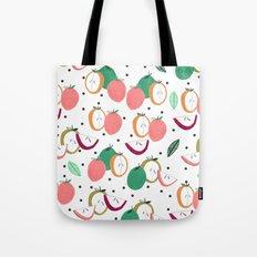 Apple print. illustration, art, print, design, pattern, fruit, food, fun, print design Tote Bag