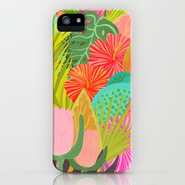 Saturated Tropical Plants and Flowers iPhone Case