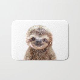 Baby Sloth, Baby Animals Art Print By Synplus Bath Mat