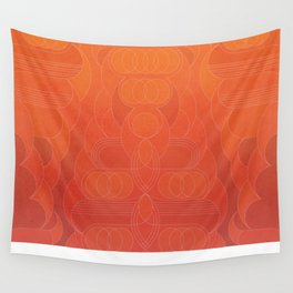Round and About Coral Wall Tapestry
