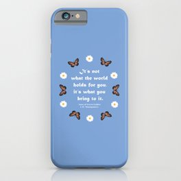 Anne of Green Gables Quotes iPhone Case