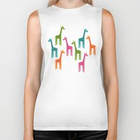 giraffes Biker Tanks featuring Giraffes by ts55