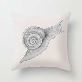 A Snail Of A Tale Throw Pillow