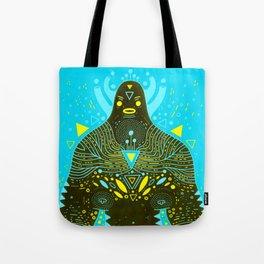 blue warrior Tote Bag