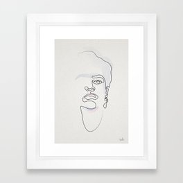 Half-a-Frida: One line Framed Art Print