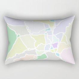 Pathways abstract art Rectangular Pillow